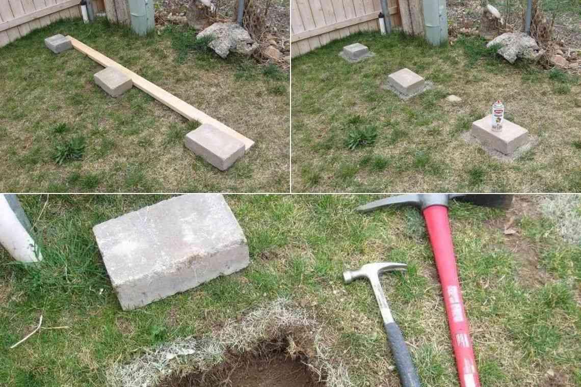 Fundação com blocos de cimento