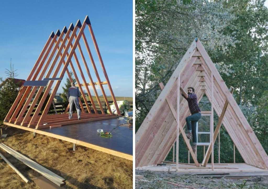 chalé de madeira construção
