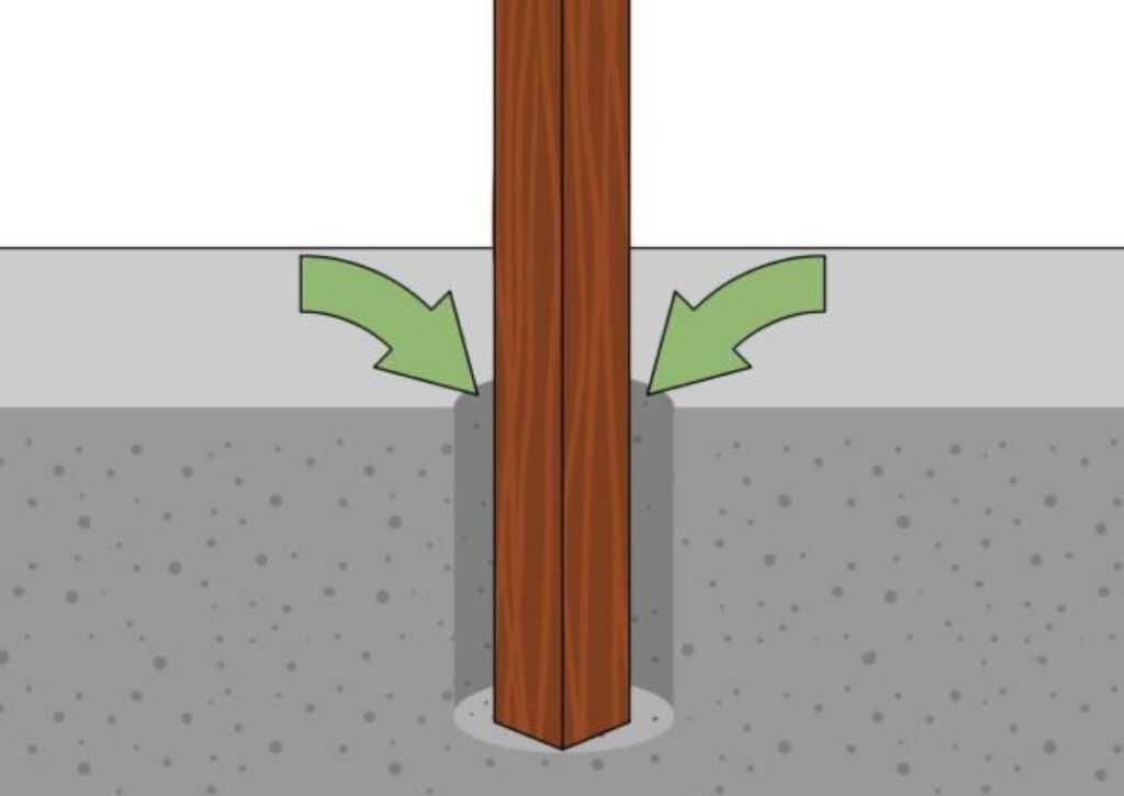 fundação de estaca para chalé de madeira
