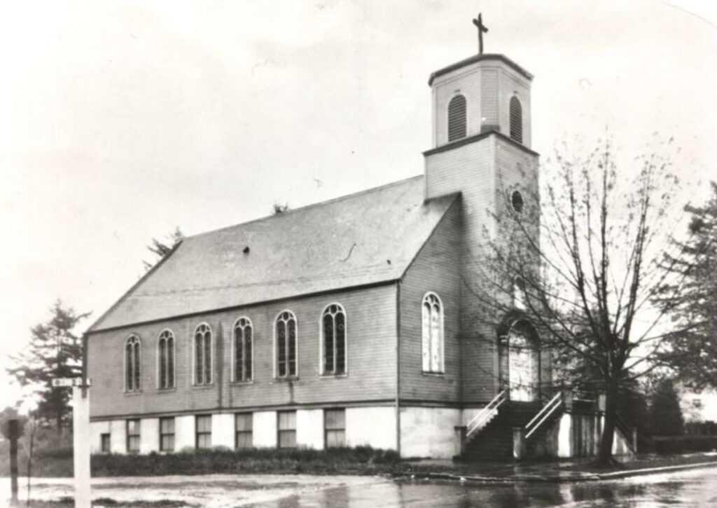igreja de são carlos baseada em um chalé de madeira