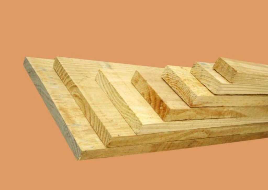 tábua de pinus para chalé de madeira