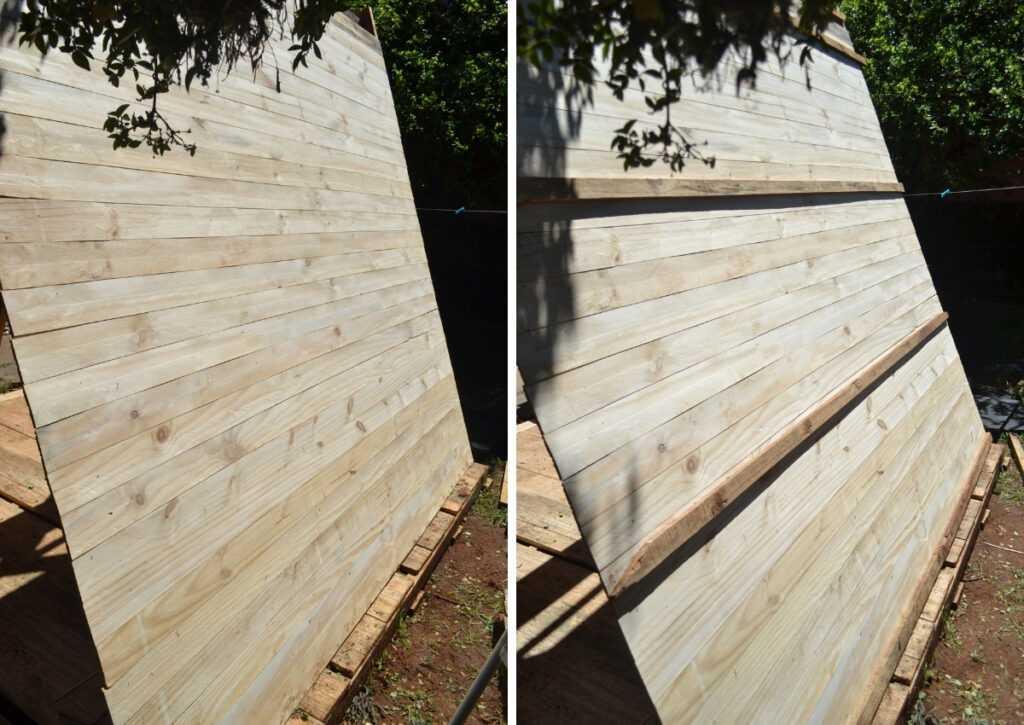travamento co pinus do chalé de madeira