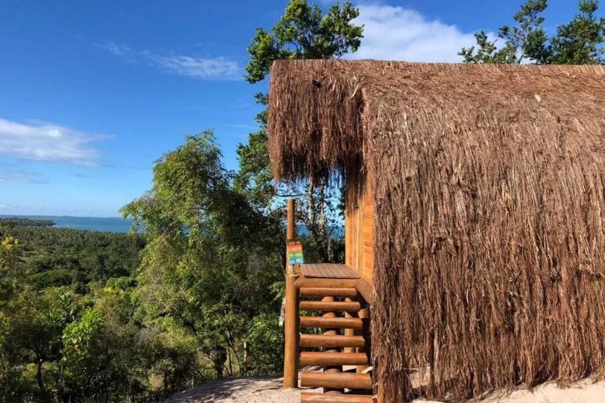 chales no brasil - bahia - bungalow de frente para o mar
