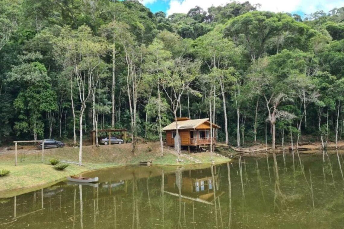 chalés no brasil - espirito santo - chalé com lareira pedra azul
