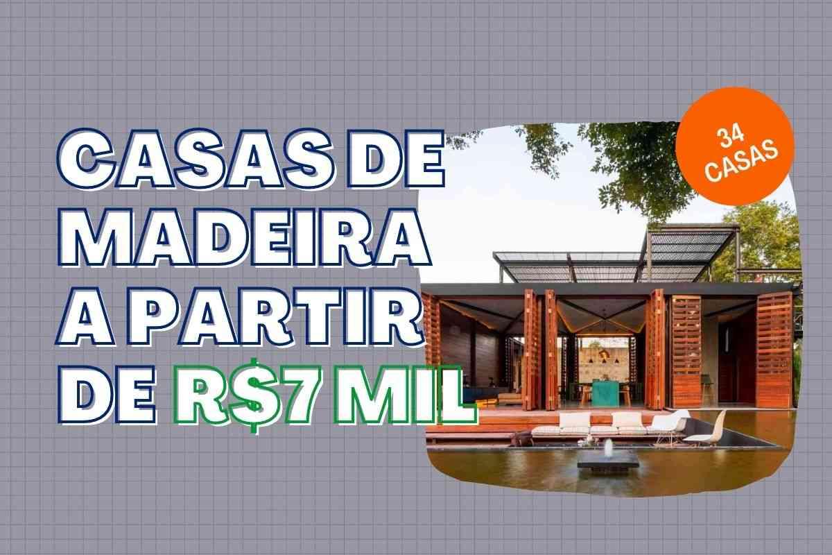 casa de madeira a partir de R$7 mil