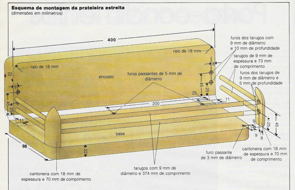 ilustração mostrando como preparar as bases e encostos do porta-condimentos de madeira