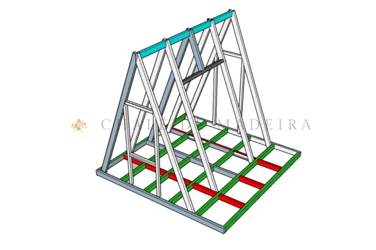 como construir um chalé projeto sketchup angulo 1