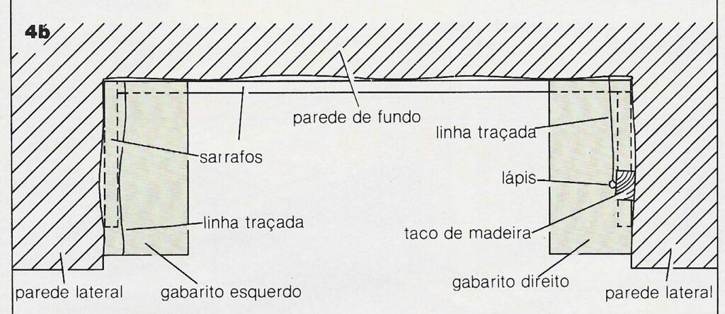 ilustração de instalação de prateleiras no passo 4b