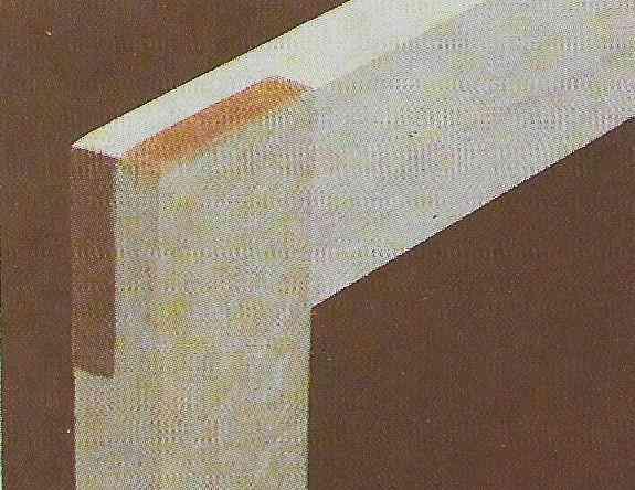 foto ilustrativa de uma junta em meia-madeira com a mesma espessura