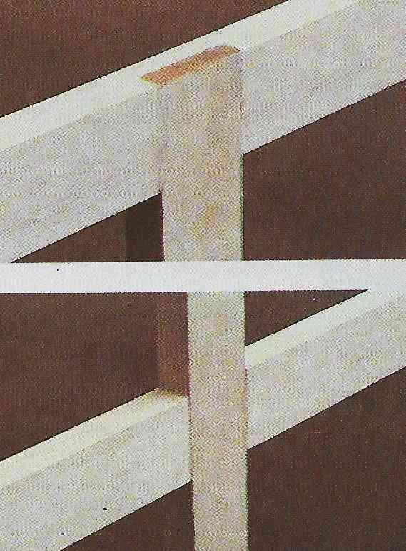 foto ilustrativa de uma junta em meia-madeira com junções em T e em cruz