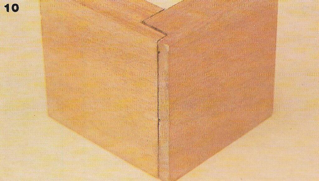 Junta rabo-de-andorinha: como fazer passo 17