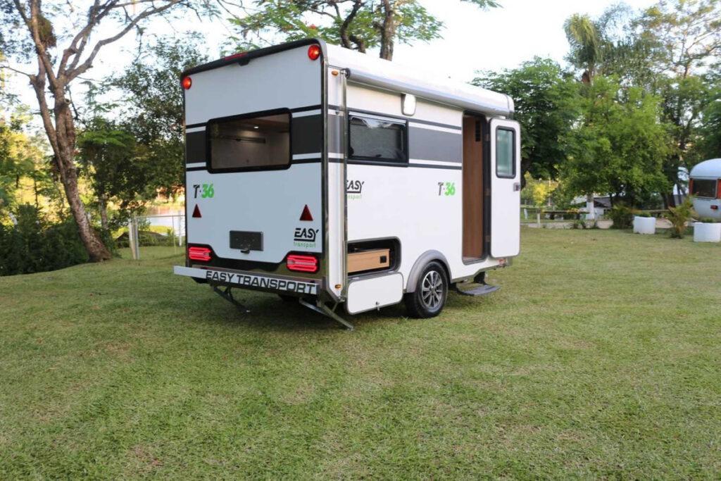 motorhome trailer em formato de reboque