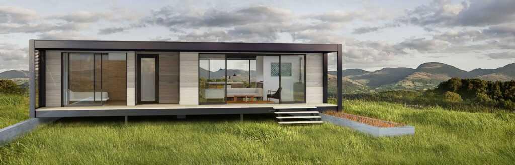 projeto de casa pré-fabricada em container