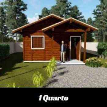 casa de madeira pré-fabricada de 1 quarto em promoção na black friday