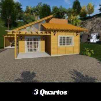 casa de madeira pré-fabricada de 3 quartos em promoção na black friday