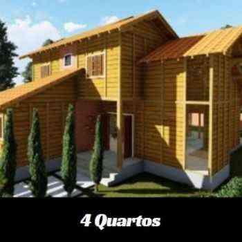 casa de madeira pré-fabricada de 4 quartos em promoção na black friday