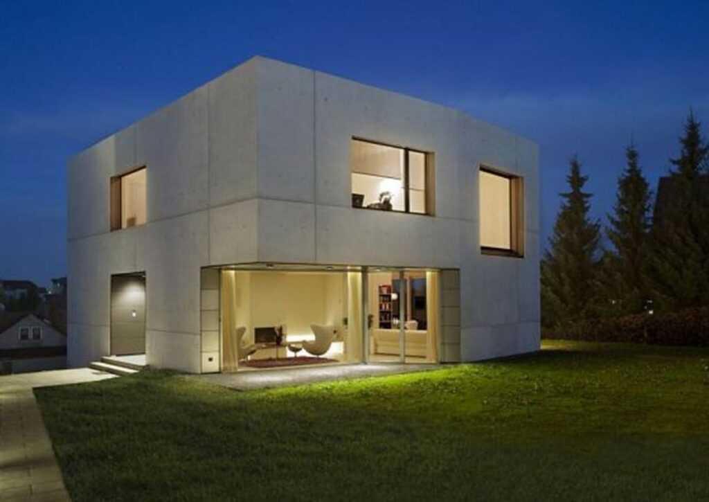casa pré-moldada em concreto