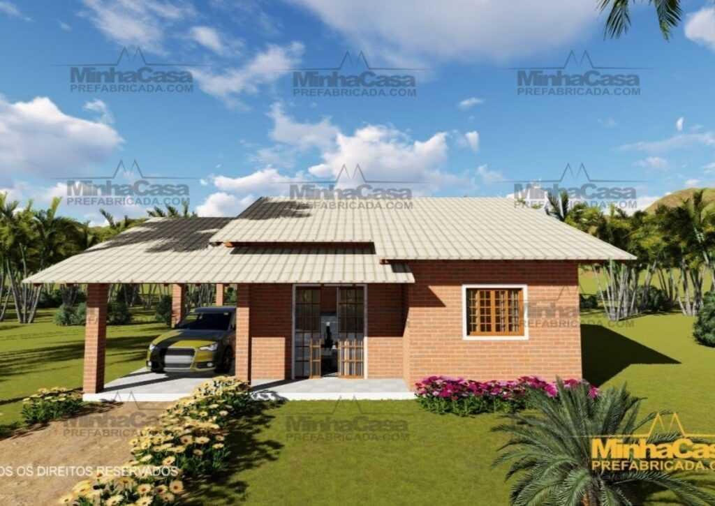 casas pré-fabricadas de tijolo ecológico kit de 3 quartos