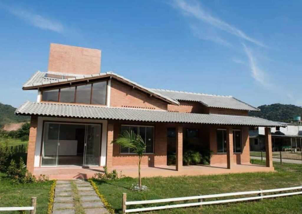 casas pré-fabricadas de tijolo ecológico modelo grande