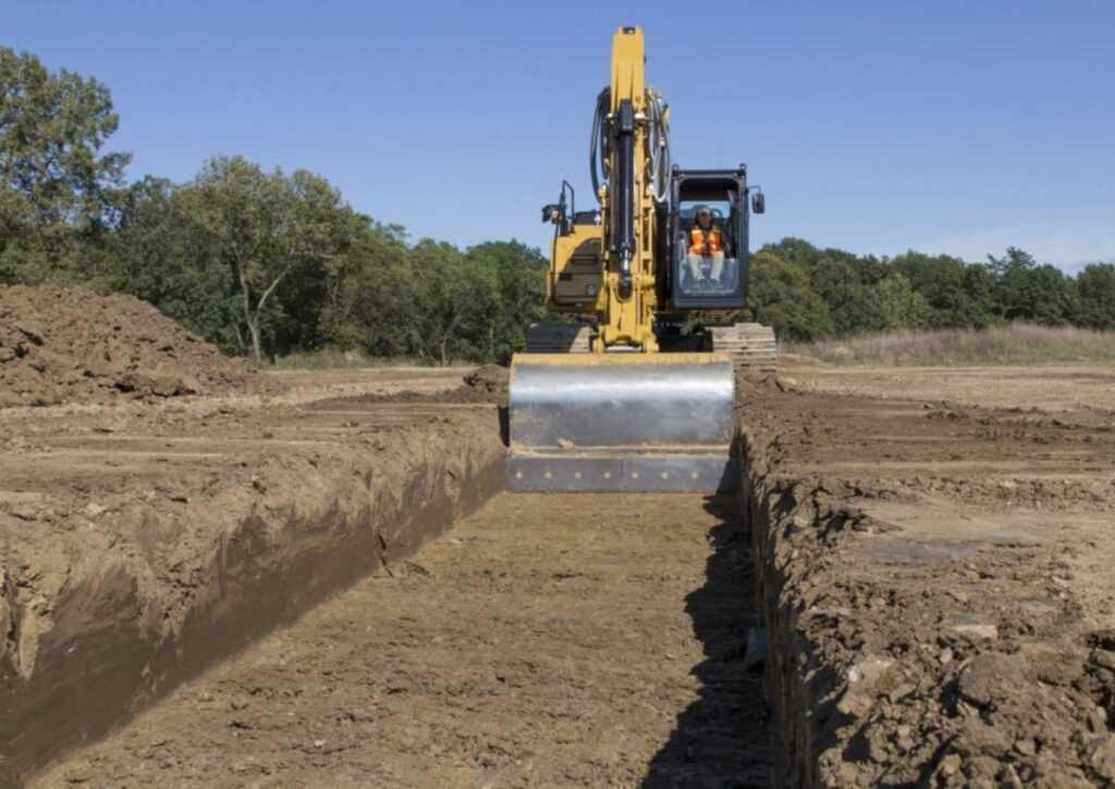 escavação da fundação radier