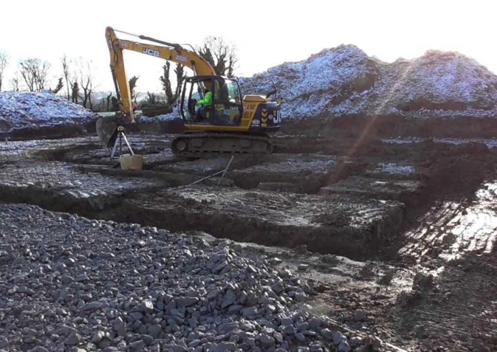 escavação de sapata corrida