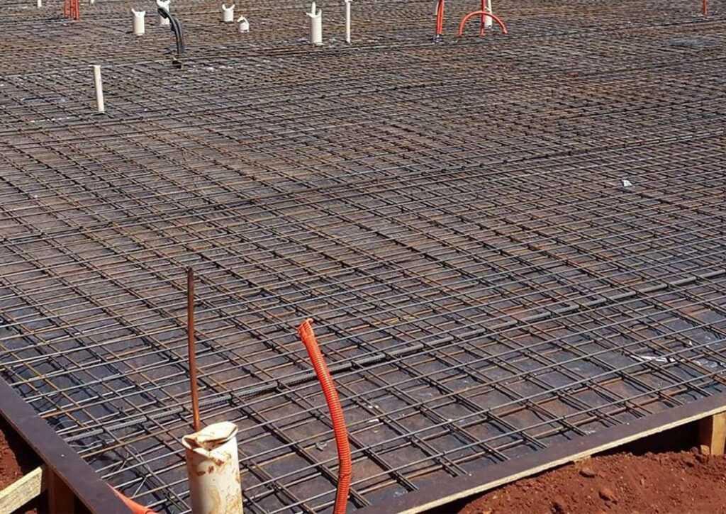instalações hidráulicas e elétricas para fundação radier