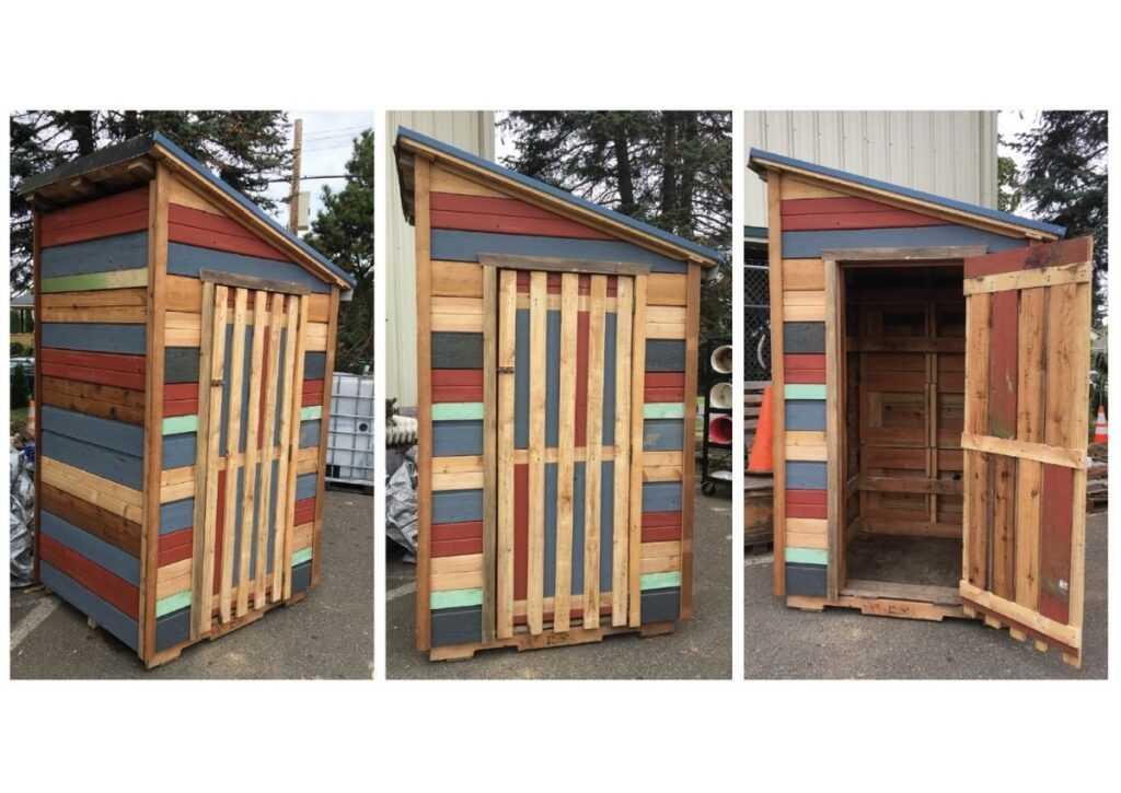 móveis de pallet - cabana de pallet