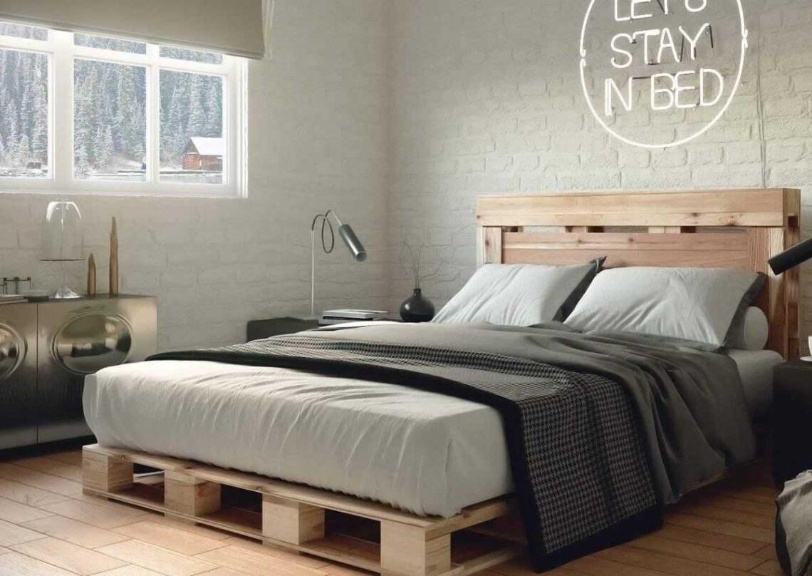 móveis de pallet - cama de pallet