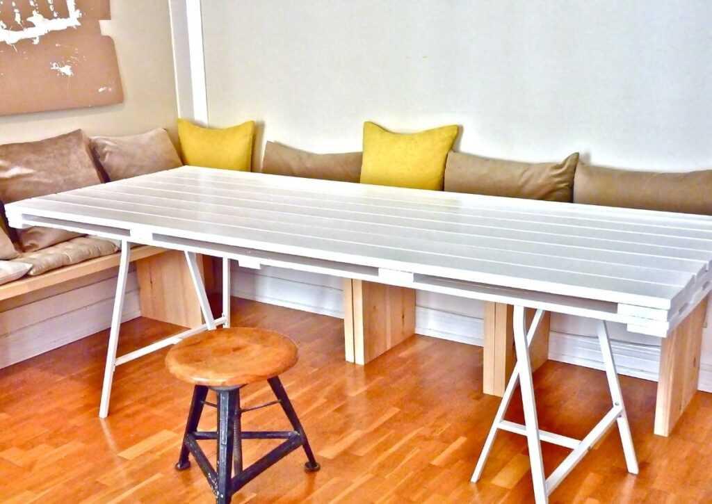 móveis de pallet - mesa de pallet