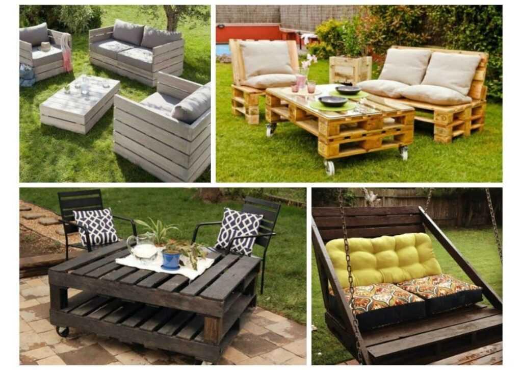 móveis de pallet - móveis de jardim de pallet