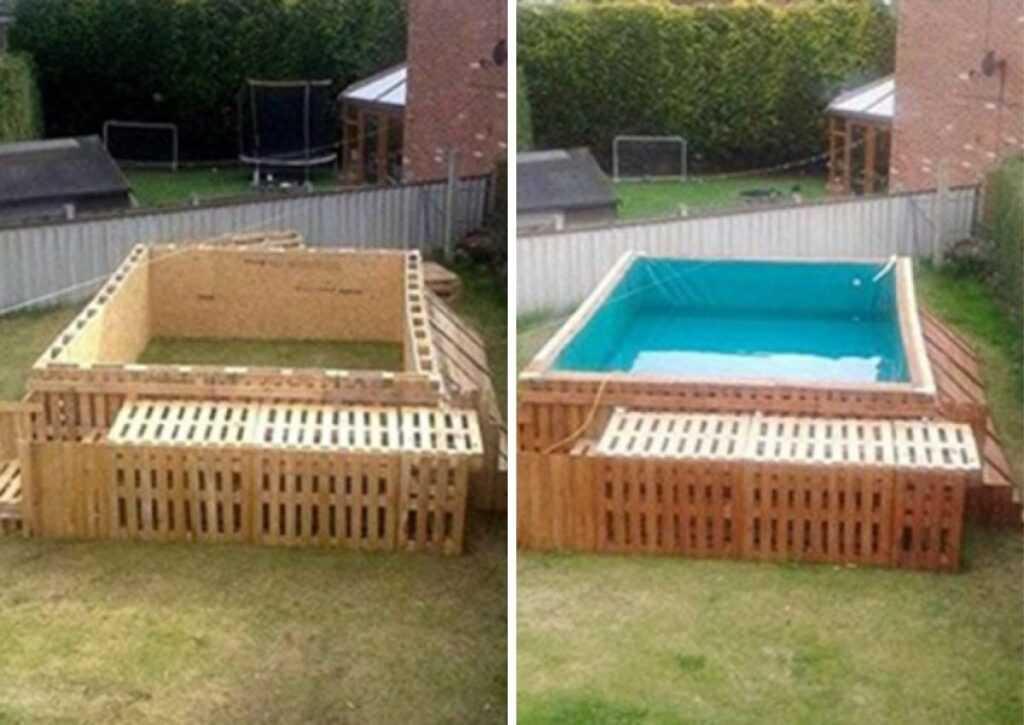 móveis de pallet - piscina de pallet