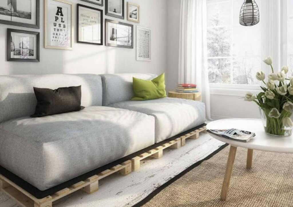 móveis de pallet - sofá de pallet