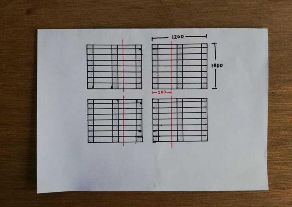 projetando a cama de pallet