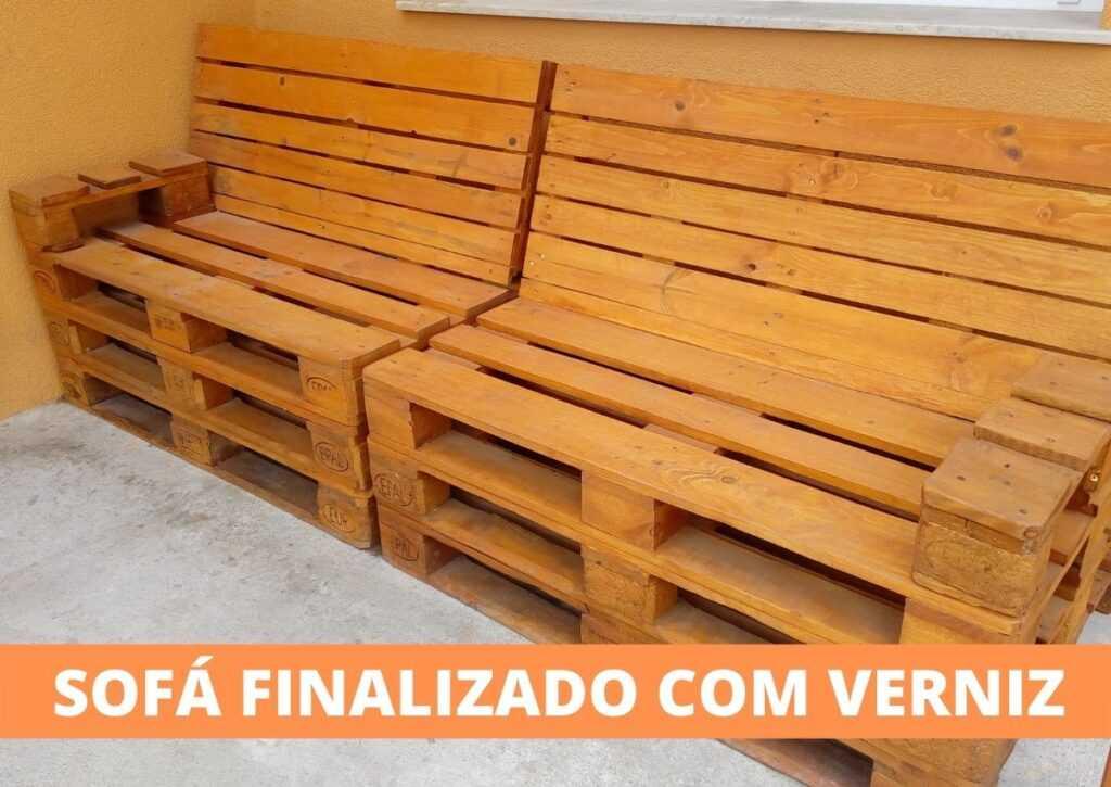 sofá de pallet finalizado
