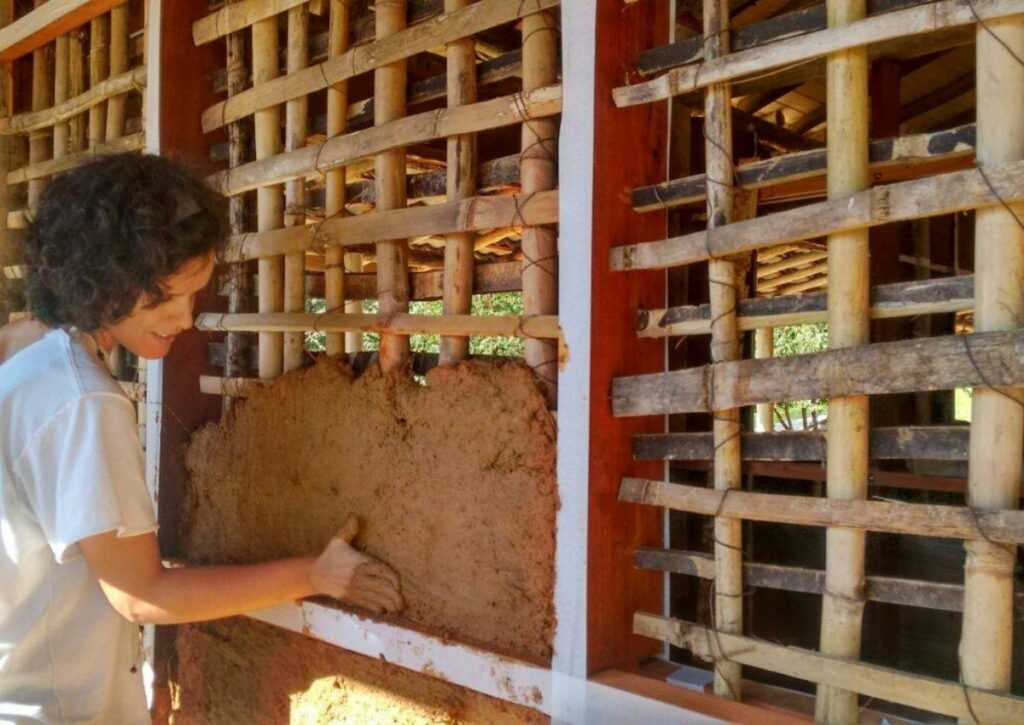 aplicação do pau a pique em bioconstrução