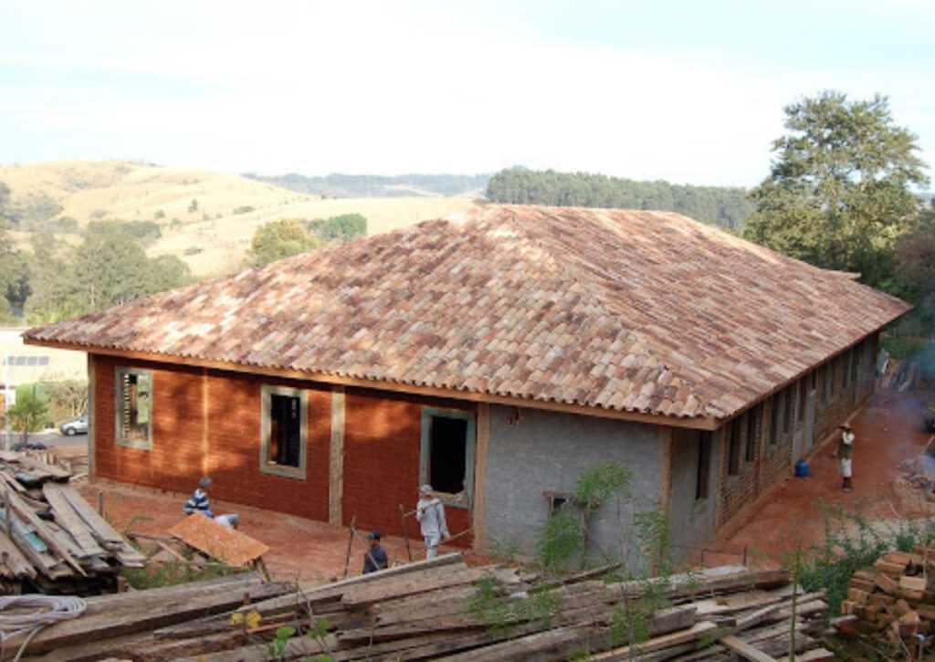 bioconstrução de casa de pau a pique