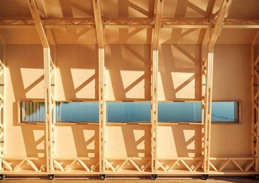 cabana de madeira móvei foto 12