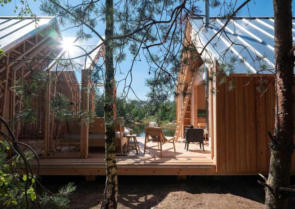 cabana de madeira móvei foto 2