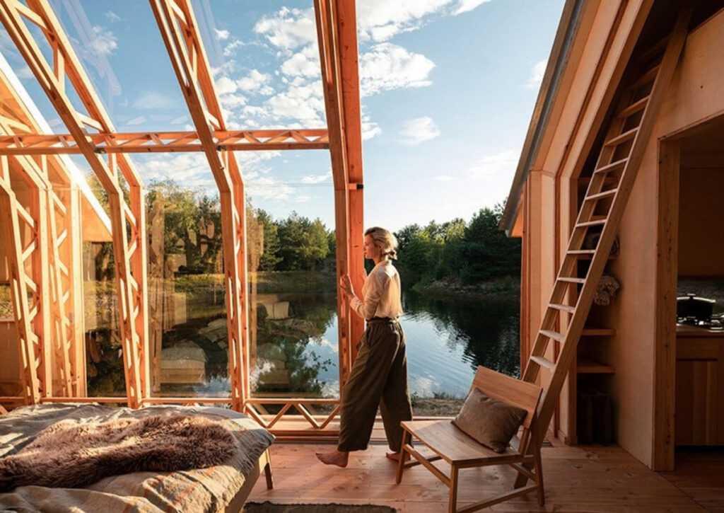 cabana de madeira móvei foto 3