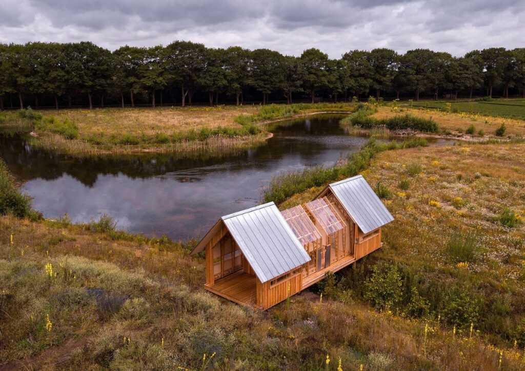 cabana de madeira móvei foto 6