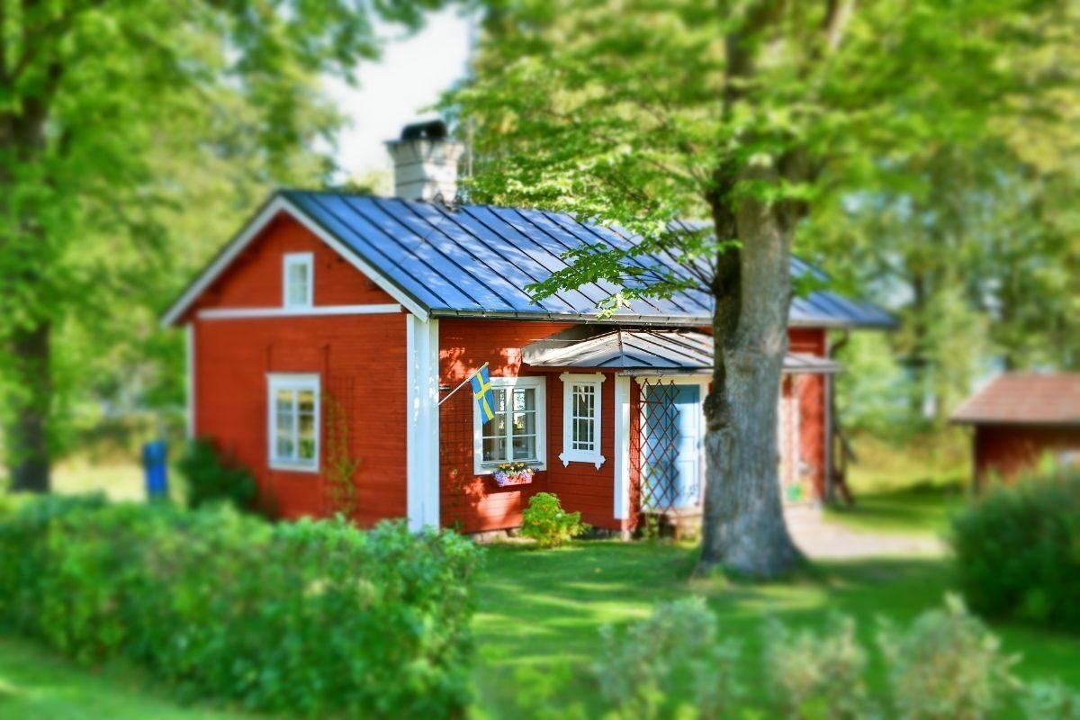 casa de campo tradicional americana