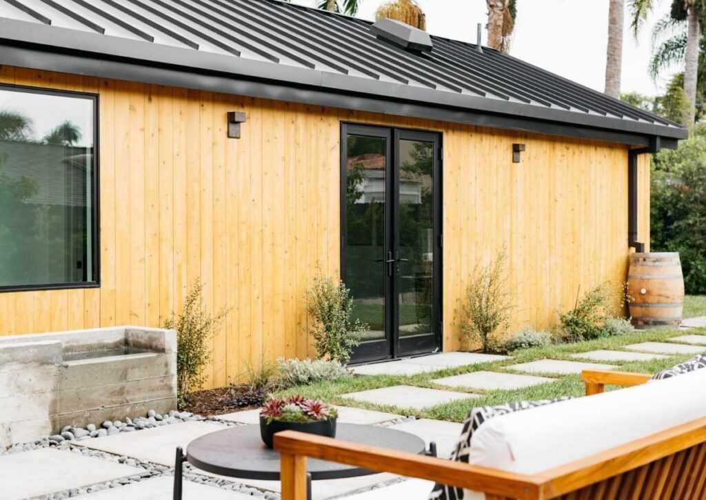 casa de madeira com telha térmica