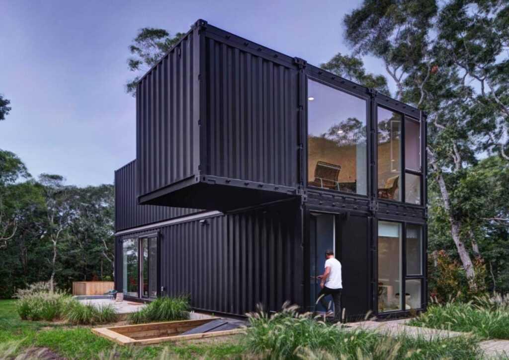 casas pré-montadas em container