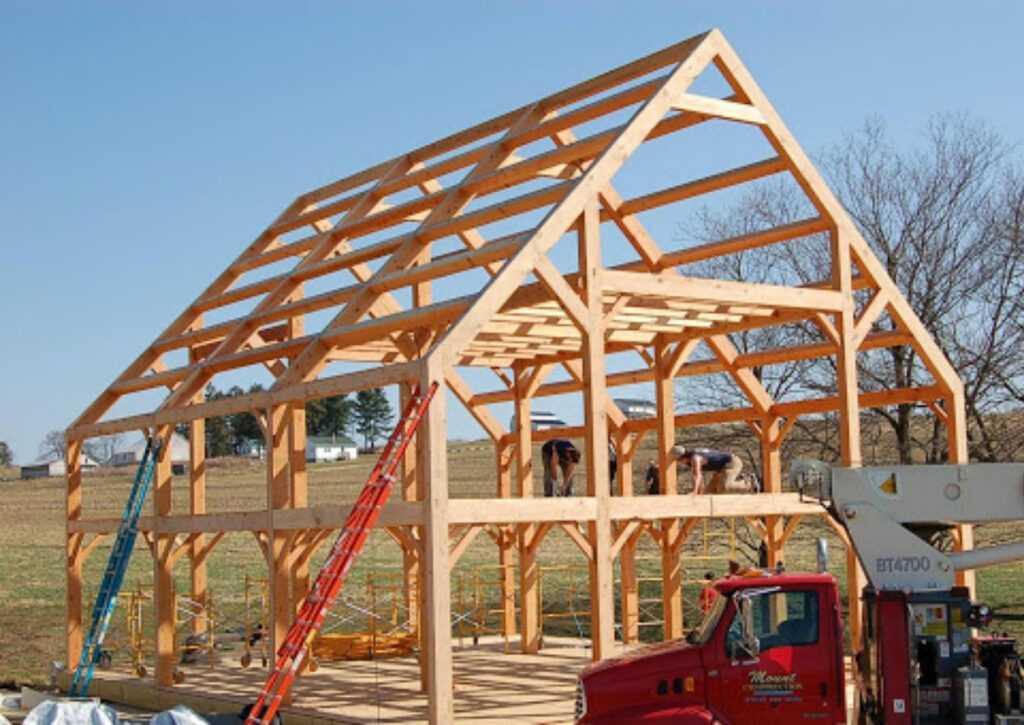 casas pré-montadas em timber framing