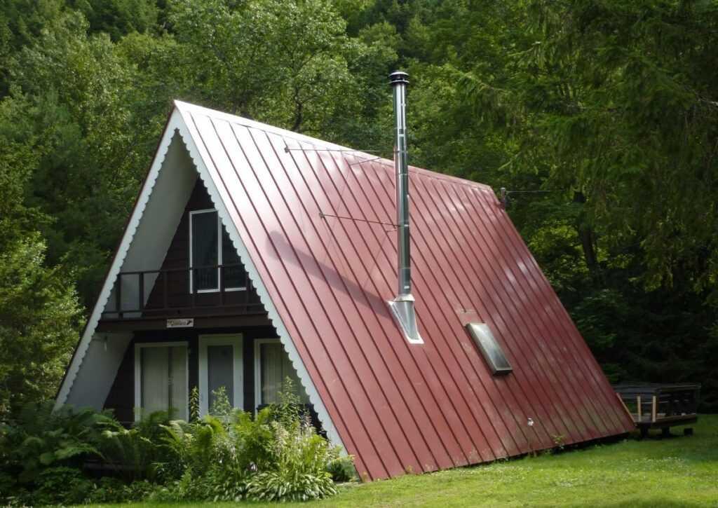 chalé de madeira com telha térmica