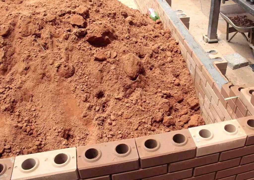 tijolo ecológico utilizado em bioconstrução