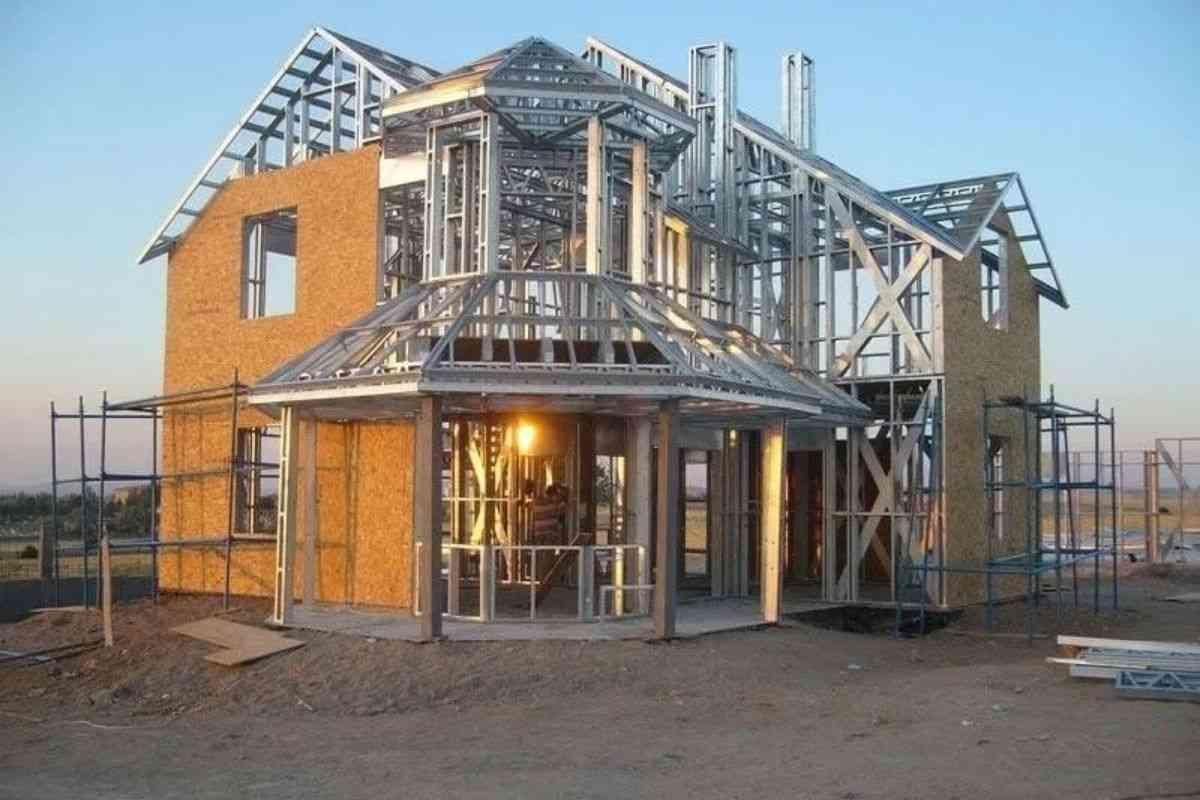 casa construída em light steel frame