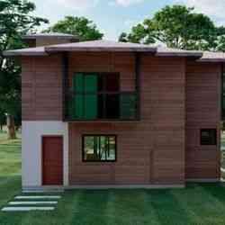 modelo de casa de madeira 3 quartos dubai