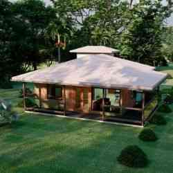 modelo de casa de madeira 2 quartos boston