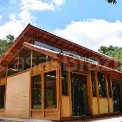 modelo de casa de madeira 1 quarto loft campestre